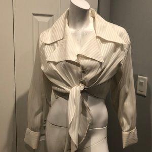Vintage Caché crop blouse